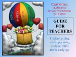 GUIDE FOR TEACHERS