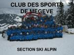 CLUB DES SPORTS DE MEGEVE