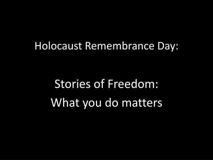 holocaust remembrance day n.