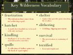 Key Wilderness Vocabulary