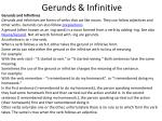 Gerunds & Infinitive