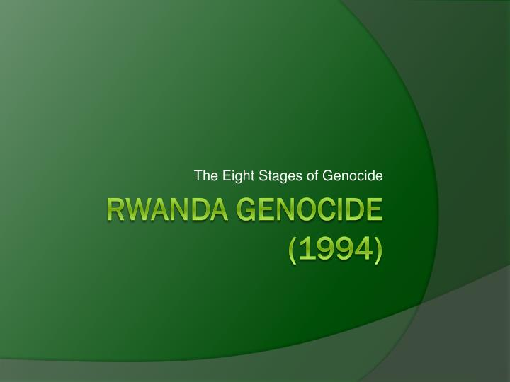 the eight stages of genocide n.
