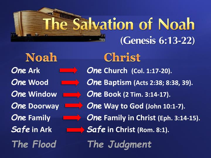 Ppt The Salvation Of Noah Genesis 613 22 Powerpoint