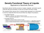 Density Functional Theory of Liquids Applications to Nanofluidic Devices