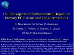 I.V. Enoxaparin or Unfractionated Heparin in Primary PCI: Acute and Long-term results