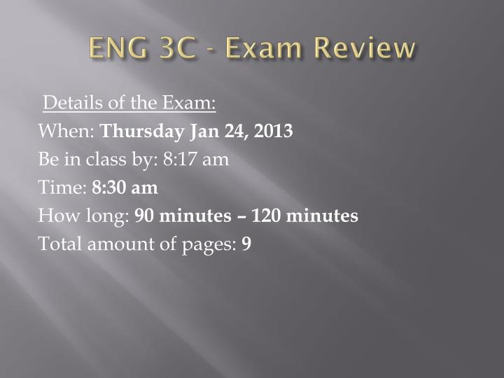 eng 3c exam review n.