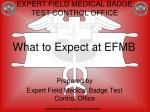 What to Expect at EFMB