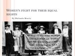 Women's fight for their equal rights