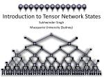 Introduction to Tensor Network States