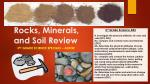 Rocks, Minerals, and Soil Review