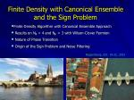 Finite Density with Canonical Ensemble and the Sign Problem