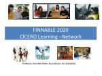 FINNABLE 2020 CICERO Learning –Network