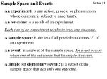 Sample Space and Events