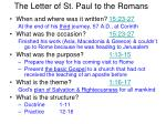 The Letter of St. Paul to the Romans