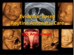 Evidence-Based Routine Antenatal Care