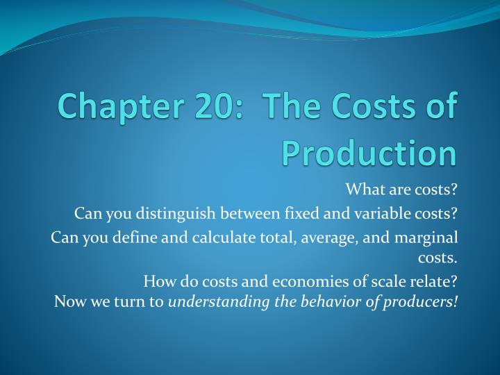 chapter 20 the costs of production n.