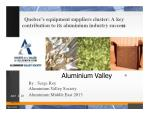 Quebec's equipment suppliers cluster: A key contribution to its aluminium industry succe ss