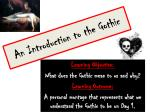 An Introduction to the Gothic
