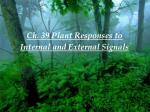 Ch. 39 Plant Responses to Internal and External Signals