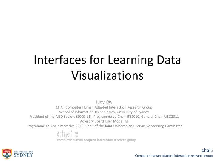 interfaces for learning data visualizations n.