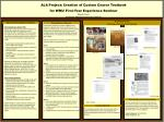 ALA Project: Creation of Custom Course Textbook for WMU First-Year Experience Seminar