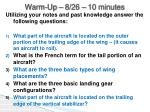 Warm-Up –  8/26  – 10 minutes