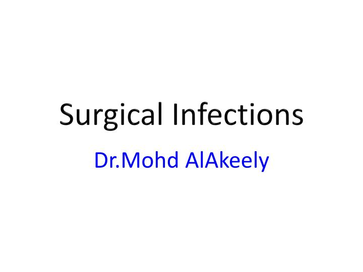 surgical infections n.
