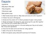 Ingredients: 200g large rolled oats 150g margarine 100g brown sugar 2tbsp golden syrup