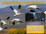 Describing Populations