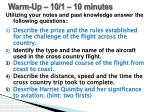 Warm-Up –  10/1  – 10 minutes