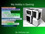 My Hobby is Gaming