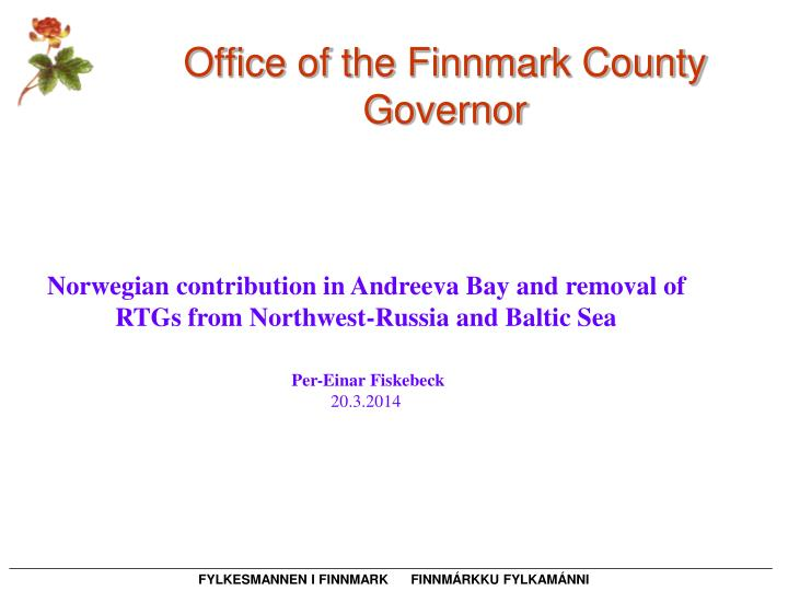 office of the finnmark county governor n.