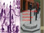 History of public health in developing countries