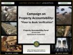 "Campaign on  Property Accountability: ""Floor to Book Verification"""