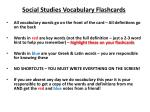 Social Studies Vocabulary Flashcards