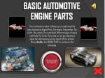 BASIC AUTOMOTIVE ENGINE PARTS