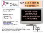 Toshiba 19-Inch LCD HDTV/DVD Stainless Steel Design $340.00 value