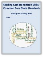 Reading Comprehension Skills -Common Core State Standards Participants Training Book