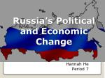 Russia's Political and Economic Change
