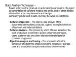 Static Analysis Techniques –