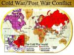Cold War/Post War Conflict