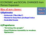 ECONOMIC and SOCIAL CHANGES from Roman Expansion