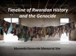 Timeline of Rwandan History and the Genocide