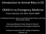 Introduction to Animal Bites in ED CRASH in to Emergency Medicine