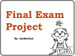 Final Exam Project
