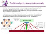 Traditional policy/consultation model