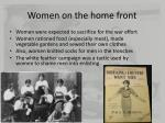 Women on the home front