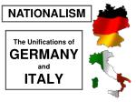 The Unifications of GERMANY and ITALY