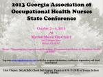 2013 Georgia Association of Occupational Health Nurses  State Conference