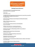 Reading Practice Resources Creating Lifelong Readers Through Independent Reading